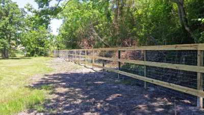 Commercial Property Wooden Fence